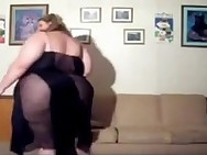 SSBBW blonde dancing