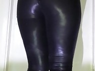 Giantess Milf Shiny Wetlook Spandex Fat ass Show