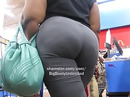 Big Arse Gray Legging Big Gurl 3