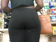 Swarthy Bum in Holy Dark Leggings