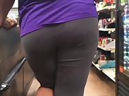 Thick Ass Legal age teenager VPL Grey Leggings (Checkout Line)