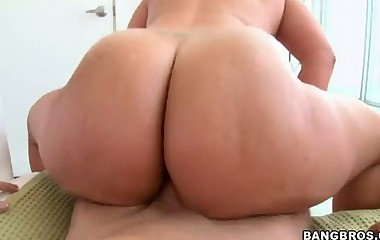 Huge pretty bottom video -  Angel Cakes and Angelina Castro. Angel is a hot little Cuban mama with 2 liter titties and an butt the size of Alaska. Angelina is a white angel with a whole lot of butt